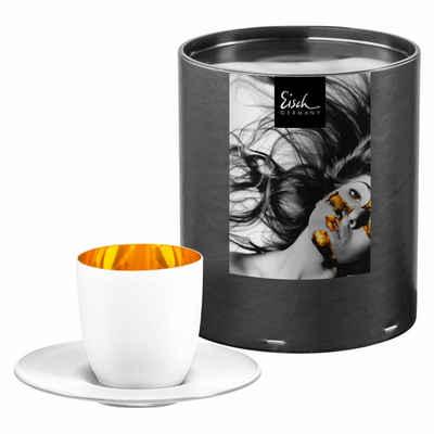 Eisch Espressoglas »Cosmo Pure White mit Untersetzer 100 ml«, Kristallglas