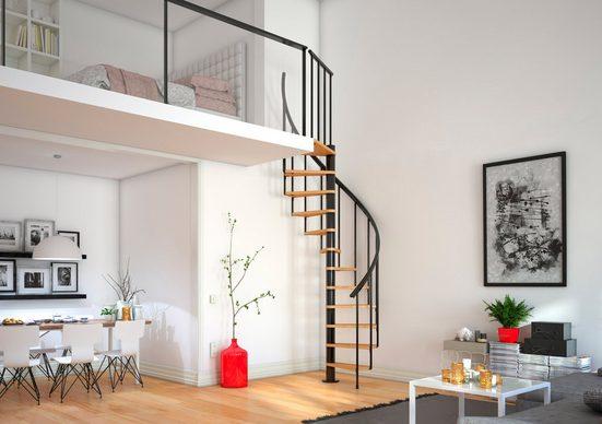 Dolle Spindeltreppe »Calgary«, für Geschosshöhen bis 280,80 cm, Stufen offen, Ø: 120 cm
