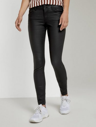 TOM TAILOR Denim Skinny-fit-Jeans »Jona Extra Skinny Jeans in Lederoptik«