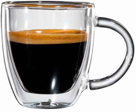 Bloomix Espressoglas »Verona«, Borosilikatglas, doppelwandiges, mundgeblasen, 80 ml, 6-teilig