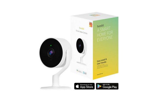 Hombli »Smart Indoor Kamera« Smart Home Kamera (Innenbereich, 1080p Full HD, Bewegungserkennung, Nachtsicht-Funktion, Gegensprechfunktion, kompatibel mit Alexa und Google Assistant, Fernsteuerung über kostenlose Hombli App)