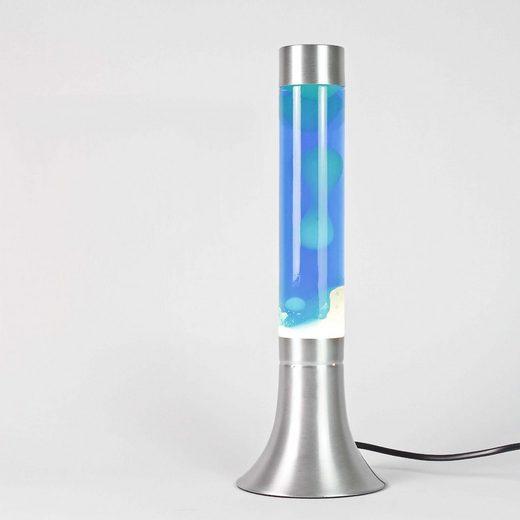 Licht-Erlebnisse Lavalampe »YVONNE Design Lavalampe Blau Kabelschalter 38cm hoch Lampe«