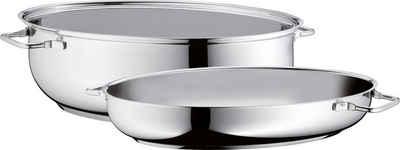 WMF Bräter, Cromargan® Edelstahl Rostfrei 18/10, (1-tlg), Deckel als induktionsgeeignete Pfanne nutzbar, 8,5 Liter