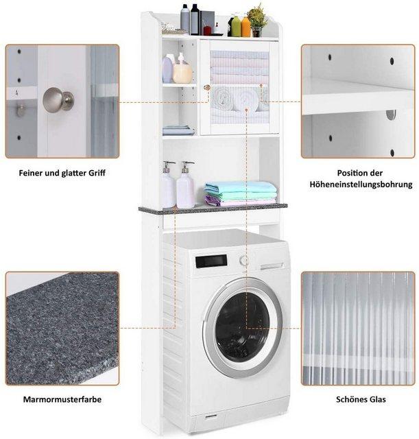Badregale - COSTWAY Badregal »Badregal Waschmaschinenregal weiß«, mit verstellbarem Regal  - Onlineshop OTTO