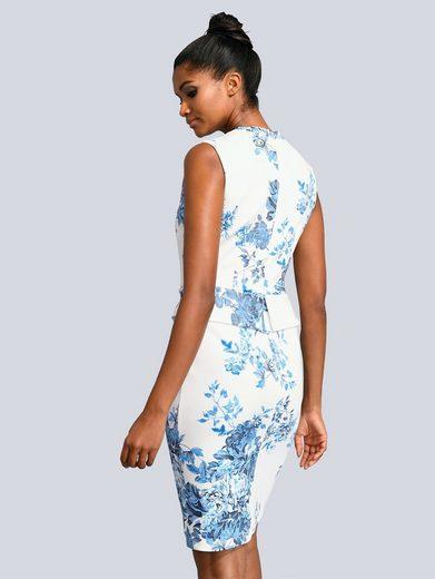 Alba Moda Kleid allover im floralen Druck