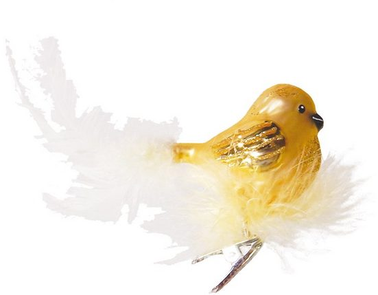 Krebs Glas Lauscha Weihnachtsbaumklammer »CBK50251« (1-tlg), Vogel