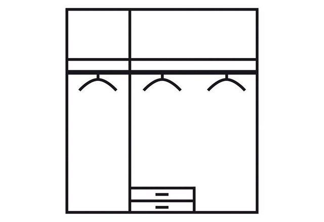 Komplettzimmer - rauch BLUE Jugendzimmer Set »Point«, (Set, 4 tlg)  - Onlineshop OTTO