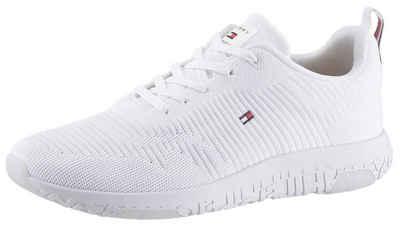 TOMMY HILFIGER »CORPORATE KNIT RIB RUNNER« Sneaker mit bunter Anziehlasche