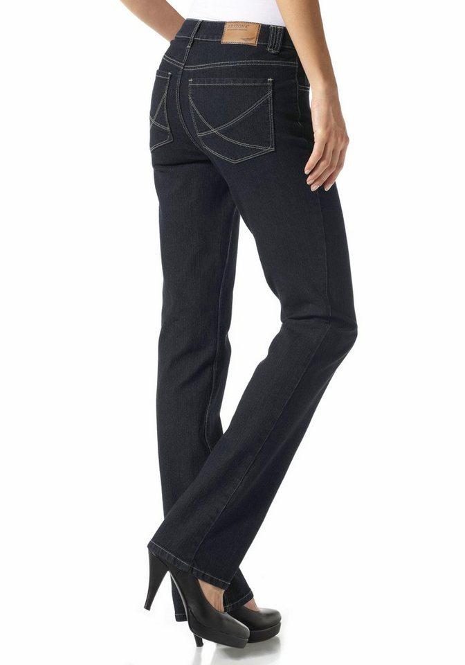 Arizona Gerade Jeans »Nathalie« mit LIFT-EFFEKT in rinsed