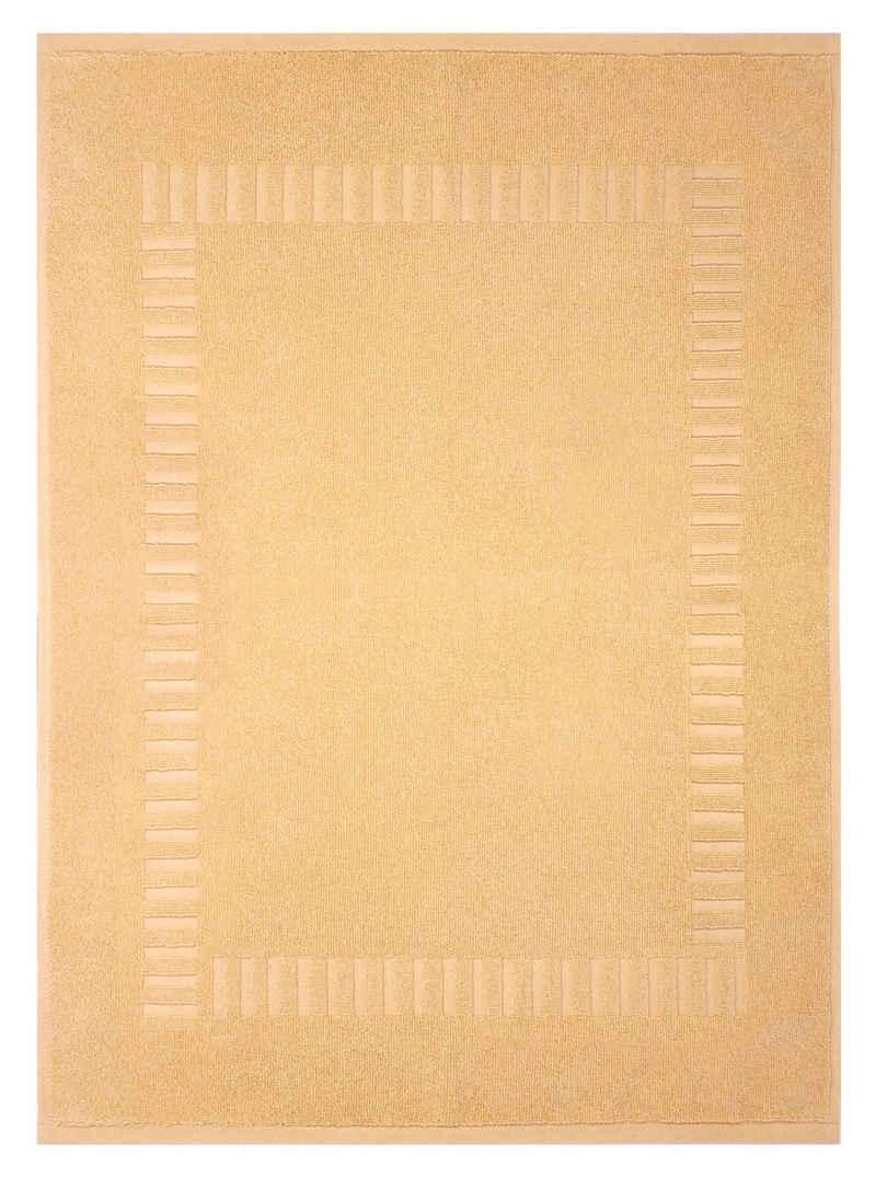 Badematte »Pure« Lashuma, Höhe 5 mm, schnell trocknend, strapazierfähig, Badvorleger Baumwolle, Badeteppich 50x70 cm