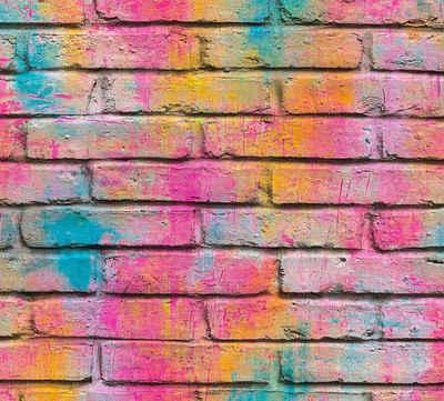 living walls Vliestapete »Boys & Girls«, Steinoptik, Backstein in Vintage Optik