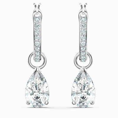 Swarovski Paar Creolen »5563119«, Mit Swarovski Kristallen