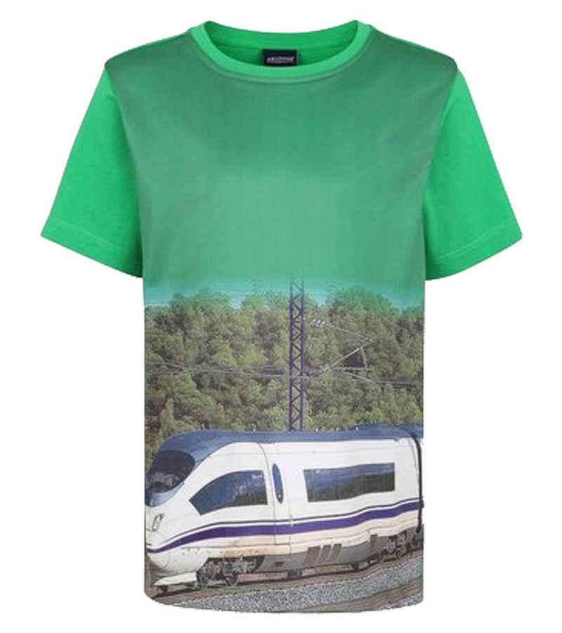 T-Shirt »ARIZONA Freizeit-T-Shirt lässiges Sommer-Shirt Kurzarm-Shirt für Jungs mit Fotoprint Grün«