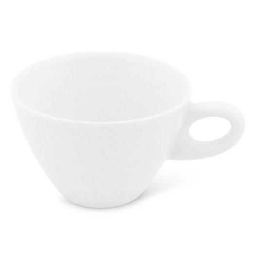 Walküre Porzellan Cappuccinotasse »Café au lait Tasse, 0,4l Alta Weiß Walküre Porzell«, Made in Germany