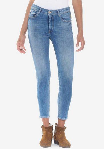 Le Temps Des Cerises Skinny-fit-Jeans »PULPHIC FAWN« in verkürzter Cropped Form mit Usedeffekten