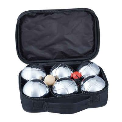 relaxdays Spiel, »Boule Set Metall 6 Kugeln«