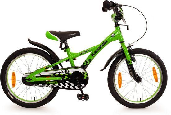 """Bachtenkirch Mountainbike »18"""" Kinderfahrrad """"KAWASAKI - Ninja"""", grün/schwarz«, 1 Gang"""