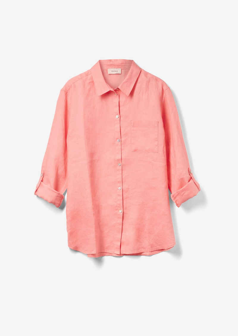TRIANGLE Langarmbluse »Hemdbluse aus Leinen«