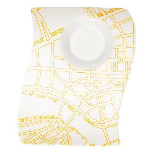 Villeroy & Boch Tafelservice »Villeroy & Boch 1x NewWave Cafè New York Partyplate klein (17x13 cm)« (1-tlg), Porzellan