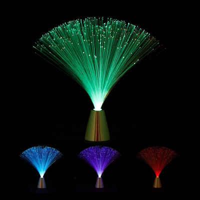 relaxdays LED Dekolicht »Glasfaserlampe mit Farbwechsel«