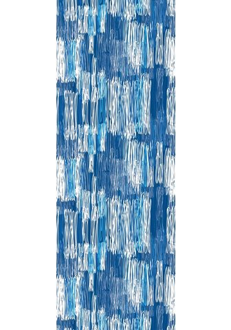 queence Vinyltapete »Muster-Blau« Streifen 90 ...