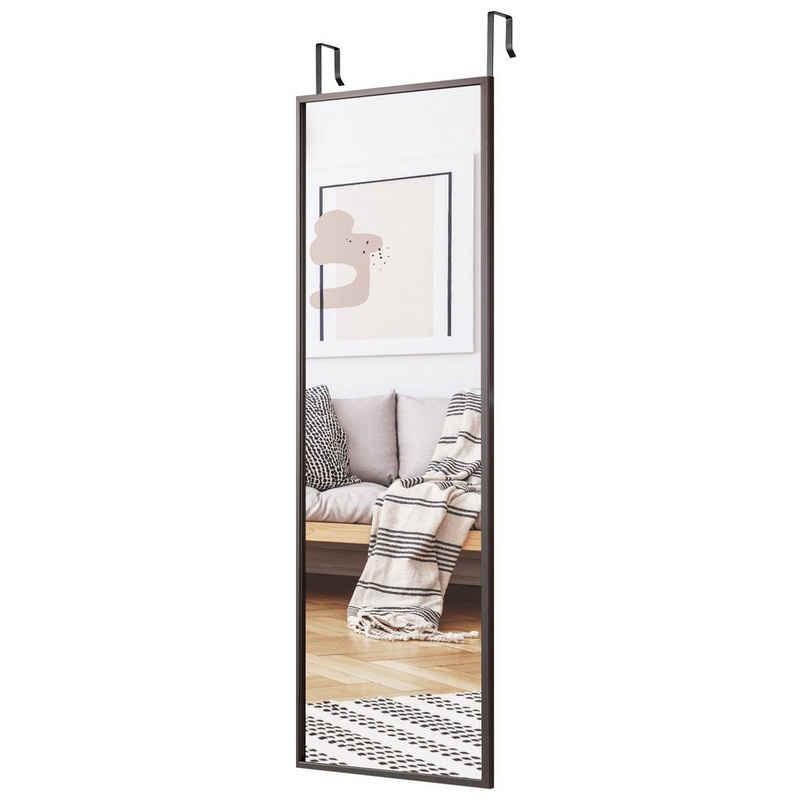 COSTWAY Wandspiegel »Türspiegel, Hängespiegel«, mit höhenverstellbaren Hängehaken