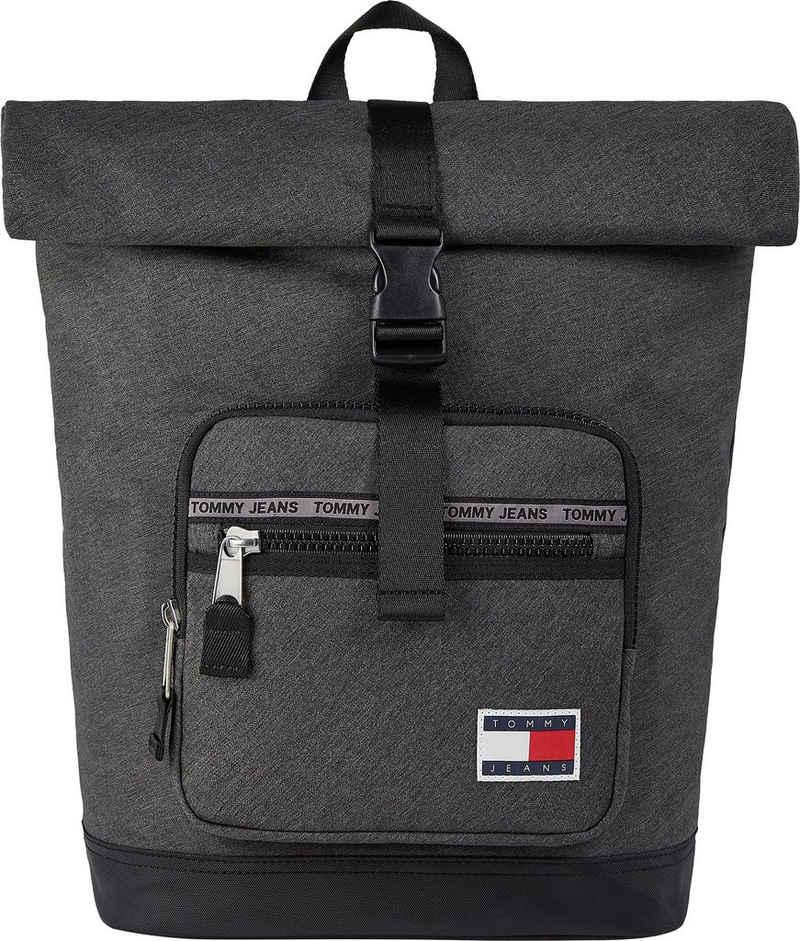 Tommy Jeans Cityrucksack »TJM CASUAL ROLL TOP MELANGE«, mit Laptopfach und Roll Top