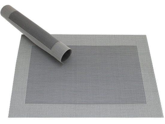 Platzset, »Tischset BORDA silber / schwarz 1 Stk. 45 cm«, matches21 HOME & HOBBY