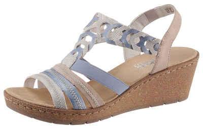 Rieker Sandalette in sommerlichen Pastelltönen