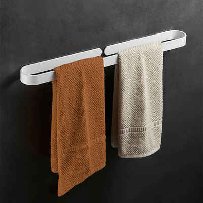 Masbekte Handtuchhalter, Handtuchstange, Handtuchring, Ohne Bohren, Selbstklebend, Badezimmer