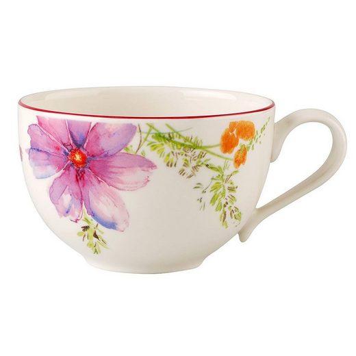 Villeroy & Boch Tasse »Kaffeeobertasse Mariefleur Basic«, Fine China Porzellan