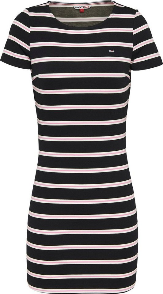 tommy jeans -  Jerseykleid »TJW STRIPED BODYCON DRESS« mit allover Ringedessin &  Logo-Flag