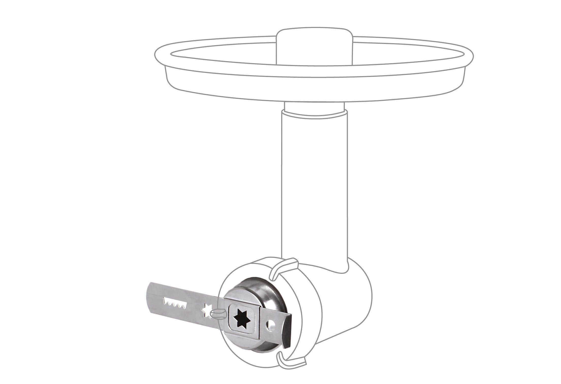Jupiter Vorsatz für Systemantrieb Spritzgebäckvorsatz 230006