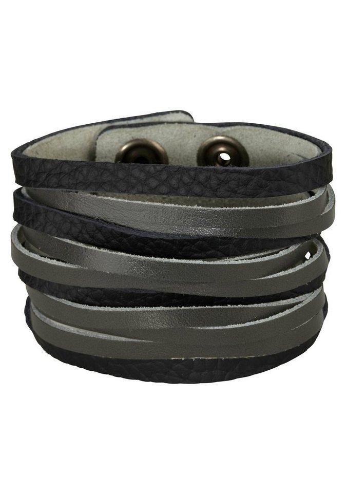 J. Jayz Armband »für den Rockstar-Style« in schwarz-grau