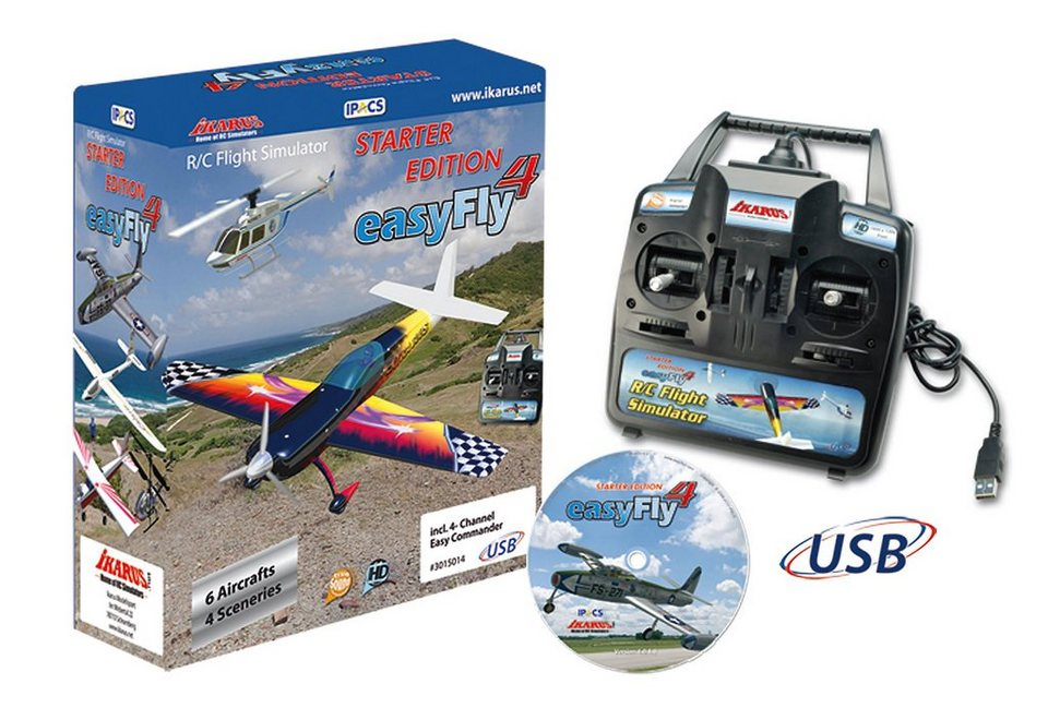 JAMARA, Flugsimulator, »Easy Fly 4 Starter Set GC inkl. Easy-Commander (GC)