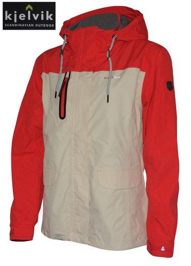dynamic24 Funktionsjacke Kjelvik Damen Freizeit Jacke Übergang Outdoor Regenjacke Übergröße rot grau