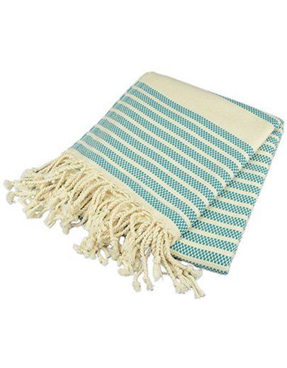 A&R Badetuch »Hamamtuch Saunatuch Strandtuch Handtuch«, Hamamtuch traditionell in der Türkei gewebt