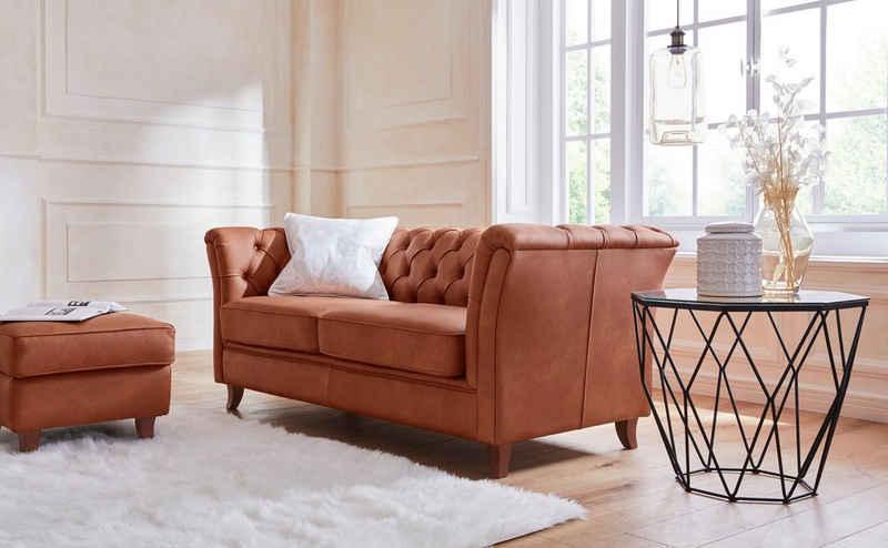 Guido Maria Kretschmer Home&Living 3-Sitzer »Noblessy«, mit echter Chesterfield-Knopfheftung, hochwertige Verarbeitung, Samtoptik mit changierender Optik