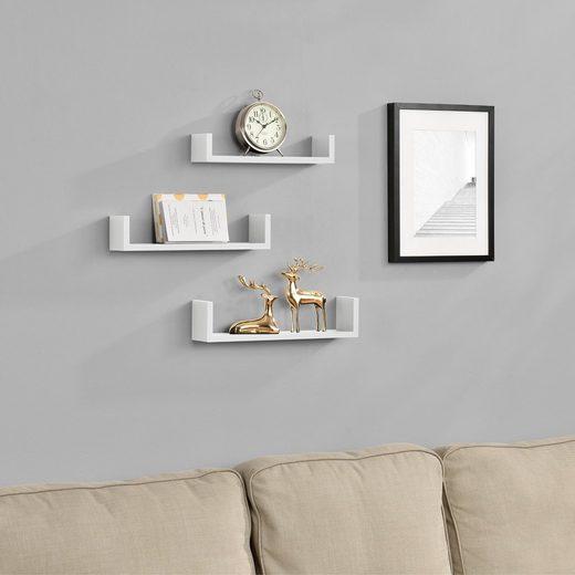en.casa Wandregal, »Lillestrøm« Design Hängeregal Bücherregal weiß