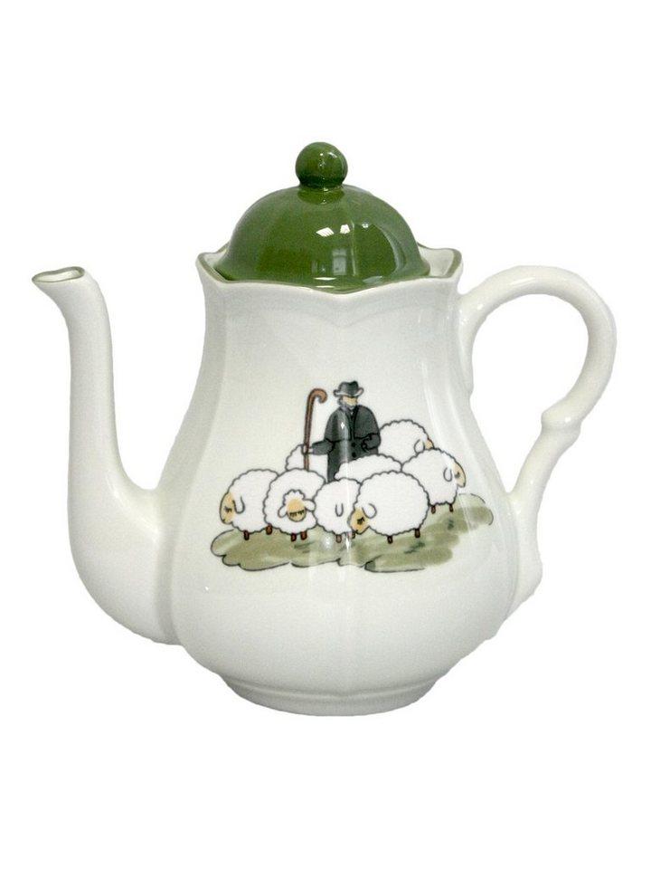 Zeller Keramik Kaffeekanne »Schäfchen« in Weiß