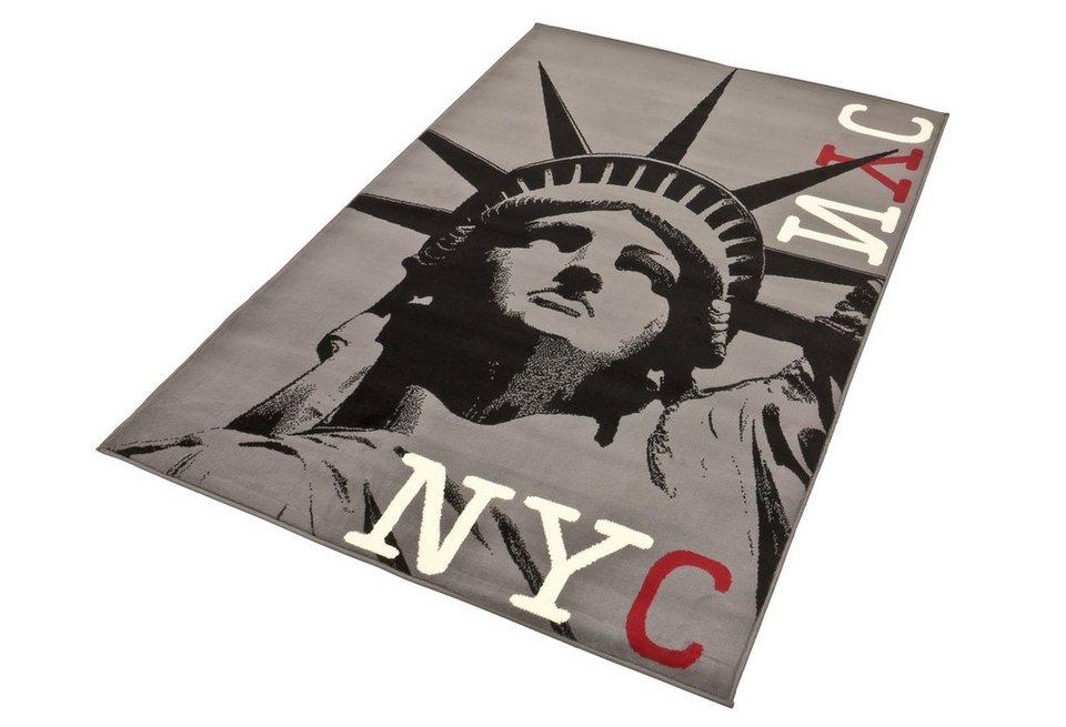 Design-Teppich, Hanse Home, »NY Freiheit - Freiheitsstatue« in schwarz/grau