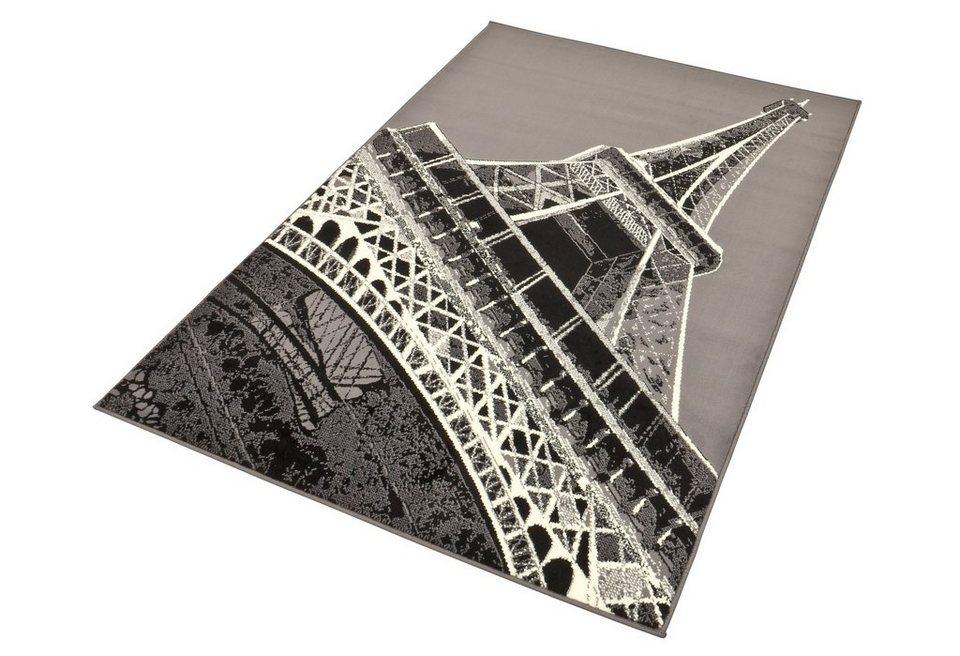 Design-Teppich, Hanse Home, »Eifelturm1«, gewebt, modern, strapazierfähig in schwarz/grau