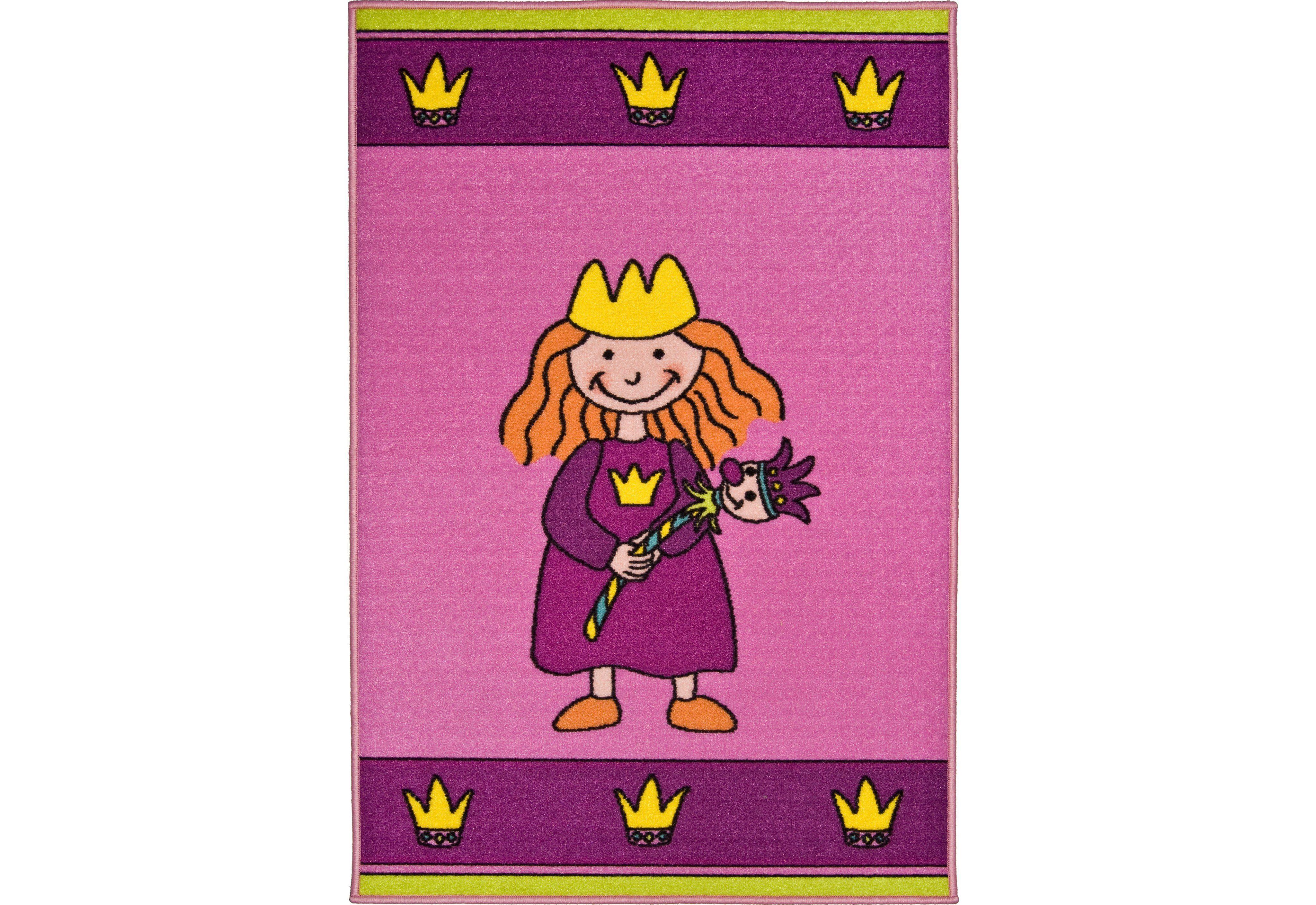 Kinderteppich »Prinzessin«, Andiamo, rechteckig, Höhe 6 mm