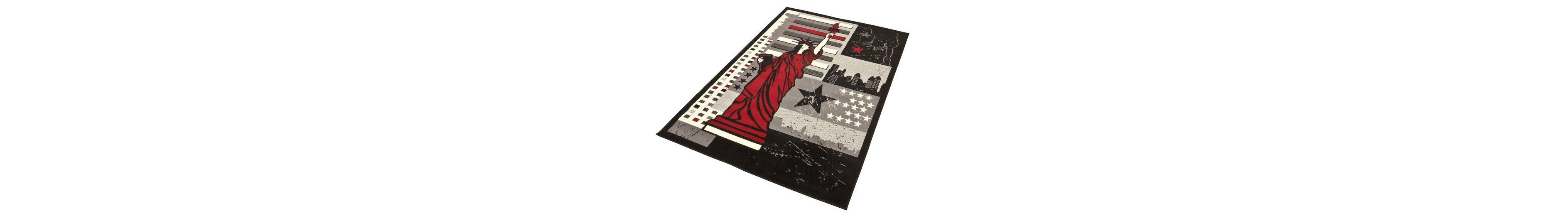 Design-Teppich, Hanse Home, »Freiheitsstatue«, gewebt, modern, Motiv-Druck