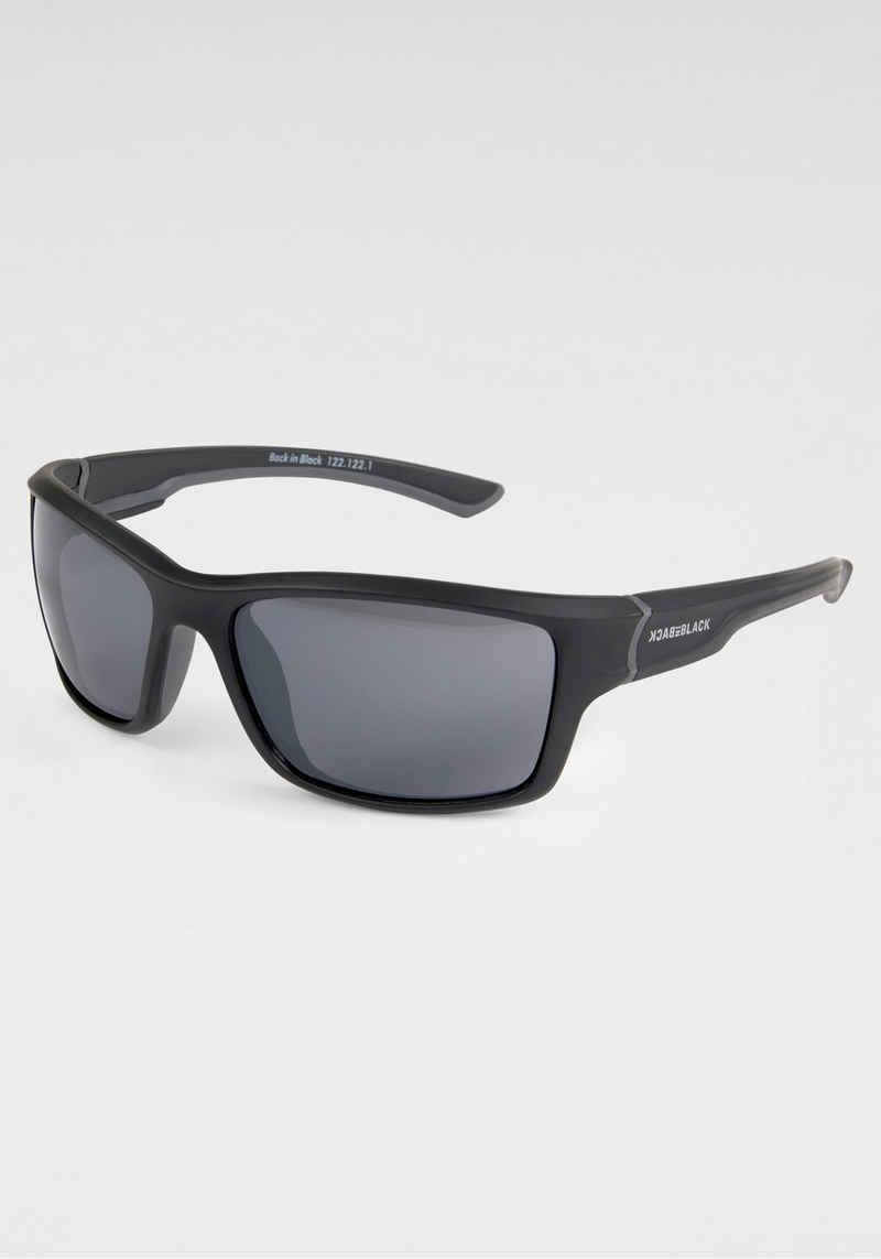 BACK IN BLACK Eyewear Sonnenbrille leicht gebogene Form
