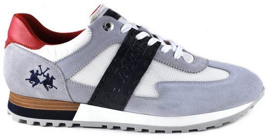 La Martina »Made in Italy« Sneaker mit Kontrastbesatz an der Ferse
