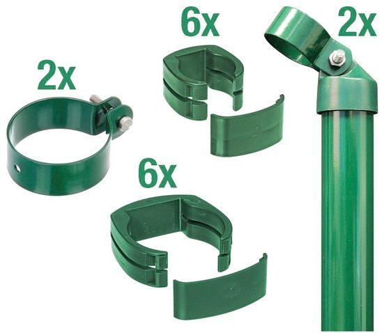 GAH Alberts Zaunpfosten »Verbinder Fix-Clip Pro®«, (Set), 2-seitig für Ø 6x122 cm, zum Einbetonieren