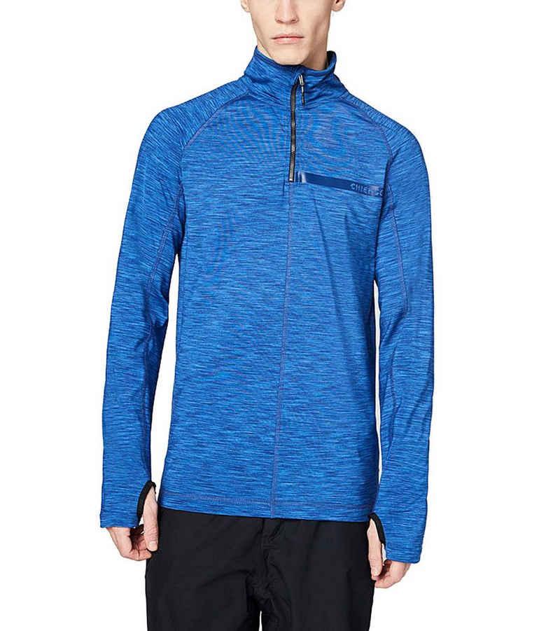 Chiemsee Sweater »CHIEMSEE Jackson Hole Funktions-Shirt atmungsaktives Herren Sport-Shirt Langarm-Shirt Blau«