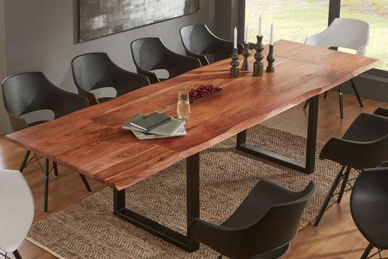 SAM® Baumkantentisch »Adina«, Akazie Massivholz nussbaumfarben 26mm natürliche Baumkante