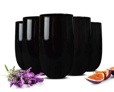 Sendez Gläser-Set »6 Schwarze Trinkgläser 320ml Wassergläser Saftgläser Cocktailgläser Longdrinkgläser«